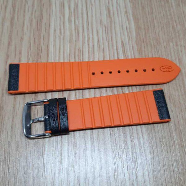 Ремешок Rhein Fils Diver 3323 оранжевый 22мм